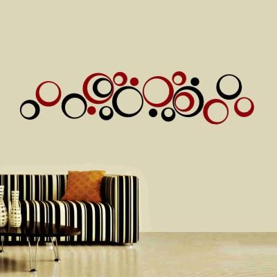 Polka Acrylic 3D Wall Art Sticker Small (20 pieces) blacknred