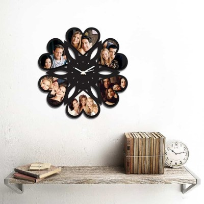 Personalized/Customized 6 Heart Pics Wall Clock Style 1