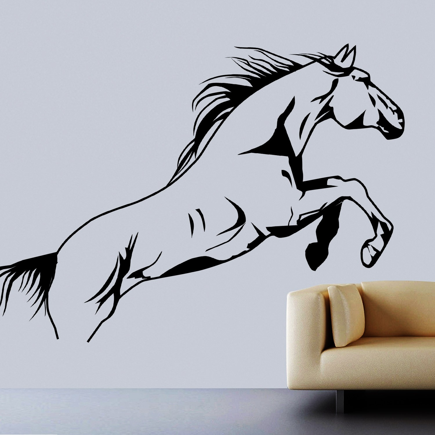Flying Beauty Wall Sticker Decal-Small-Black
