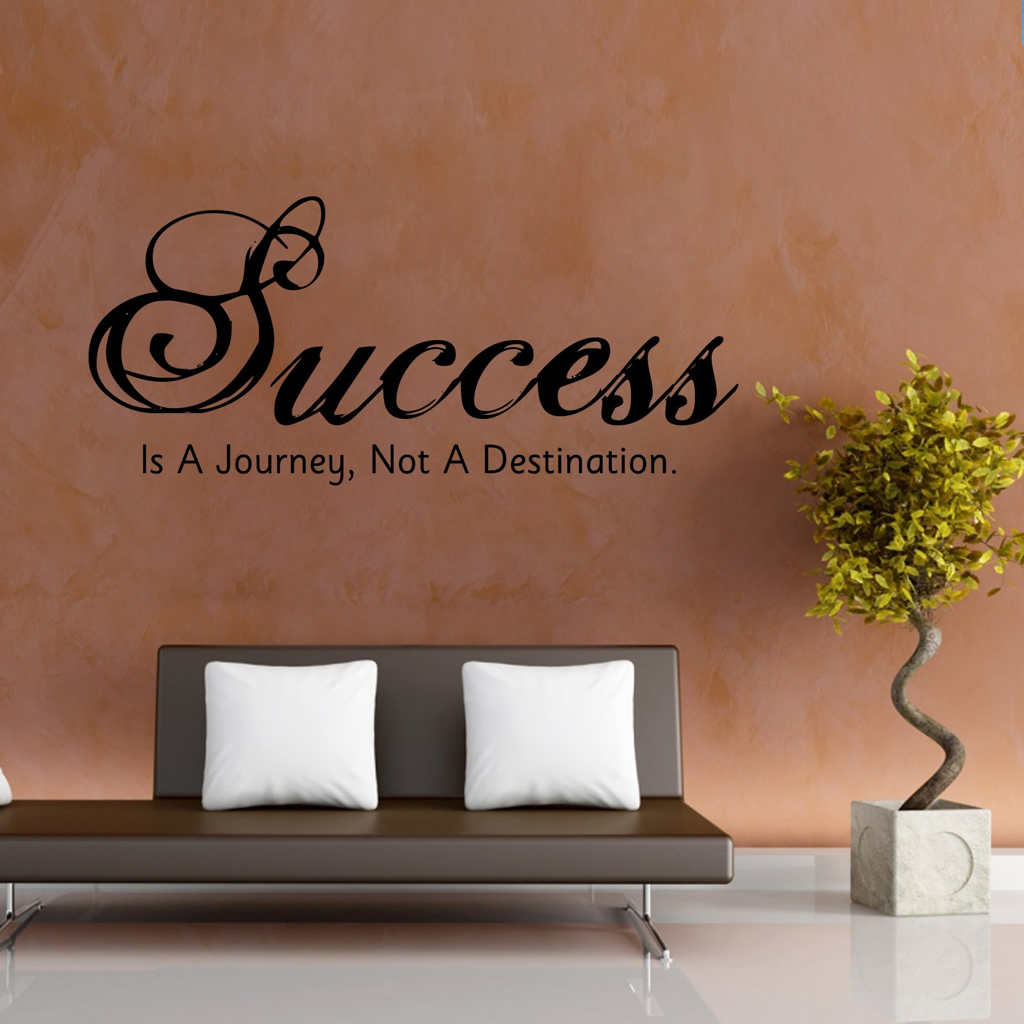 Success A Destination Wall Sticker Decal-Small-Black