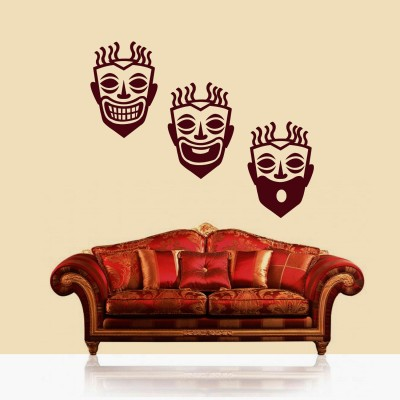 Expressions Wall Sticker Decal-Small-Burgundy