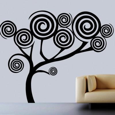 Spiral Tree Wall Sticker Decal-Medium-Black