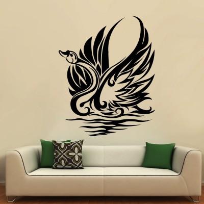 Swann Wall Sticker Decal-Medium-Black