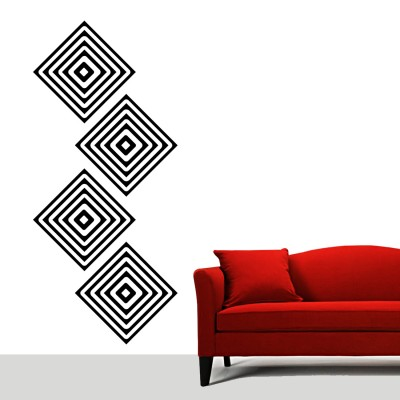 Consquares Wall Sticker Decal-Black