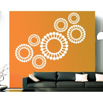 Chakras Wall Sticker Decal-Small-White