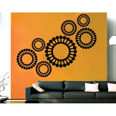 Chakras Wall Sticker Decal-Medium-Black