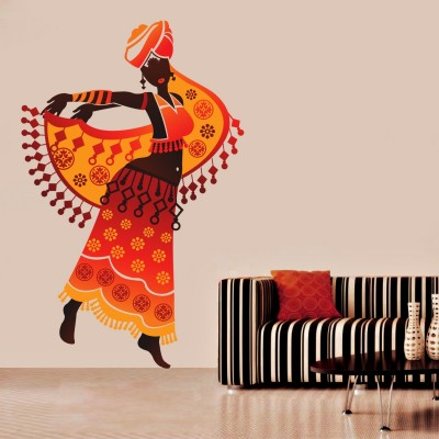 Black Woman Wall Sticker Decal-Small