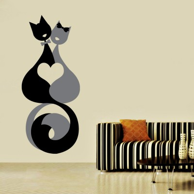 Cats In Love Wall Sticker Decal-Small