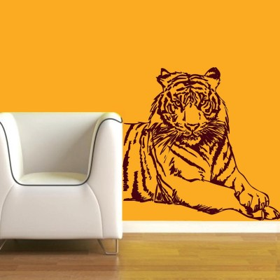 Tiger Wall Sticker Decal-Small-Burgundy