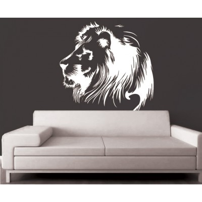 Lion King Wall Sticker Decal-Small-White