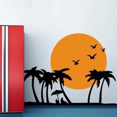 Holiday On Beach Wall Sticker Decal-Small