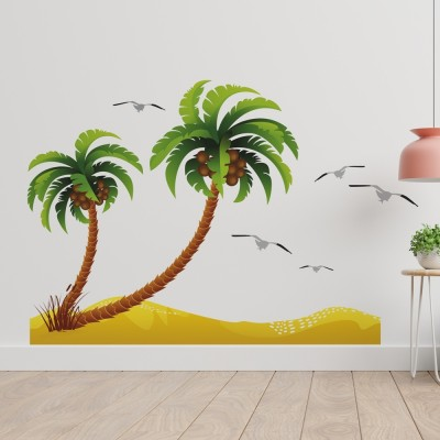 Beach and Coconut Trees PVC Wall Sticker
