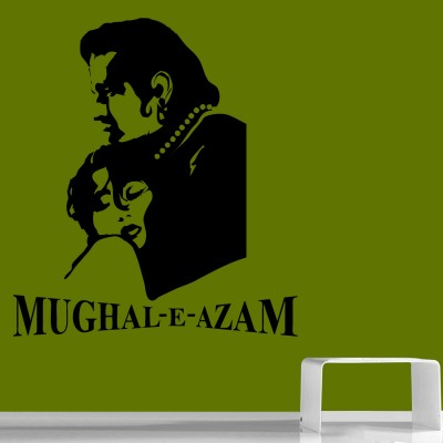 Mughal-E-Azam Wall Sticker Decal-Small-Black