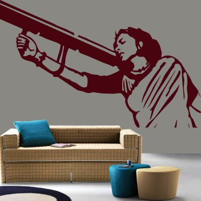 Mother India Wall Sticker Decal-Small-Burgundy