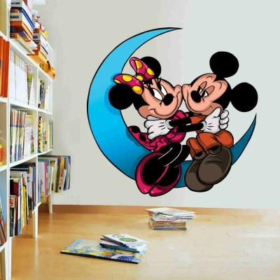 Mickey On Moon Quote Wall Sticker Decal-Small