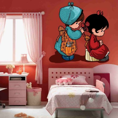 Cute Dolls Quote Wall Sticker Decal-Small