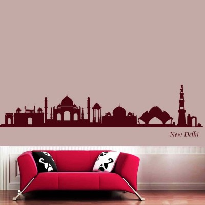 Indian Heritage Wall Sticker Decal-Small-Burgundy