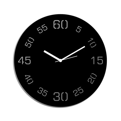Point Sixty Black Wall Clock