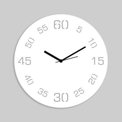 Point Sixty White Wall Clock