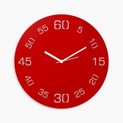 Point Sixty Red Wall Clock