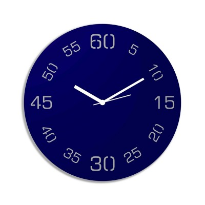 Point Sixty  Blue Wall Clock