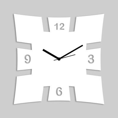 Brick Style White Wall Clock