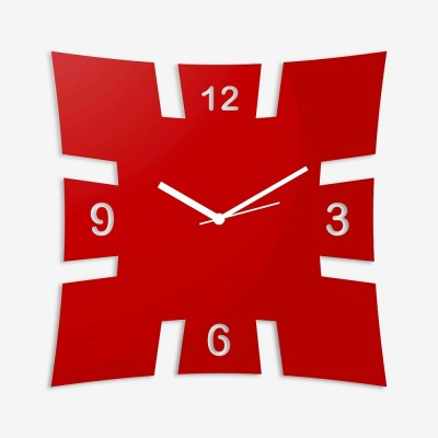Brick Style Red Wall Clock