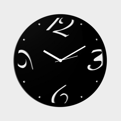 Abstract Style 1 Black Wall Clock