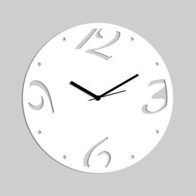 Abstract Style 1 White Wall Clock