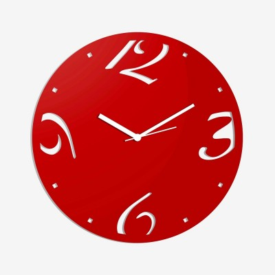 Abstract Style 1 Red Wall Clock