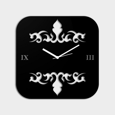 Abstract Style 2 Black Wall Clock