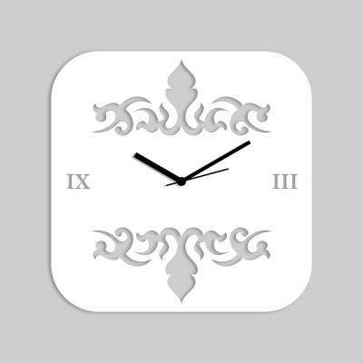 Abstract Style 2 White Wall Clock