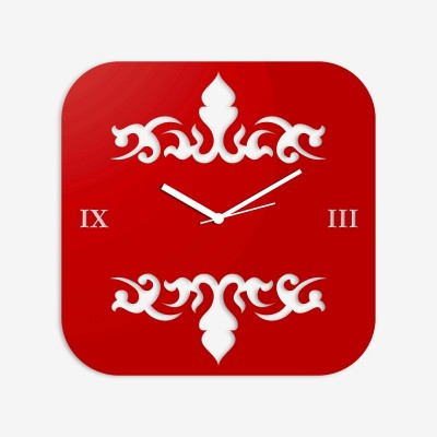 Abstract Style 2 Red Wall Clock