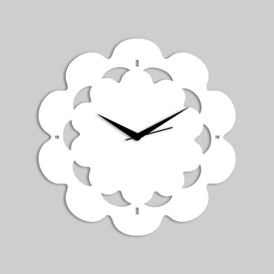 Abstract Style 3 White Wall Clock