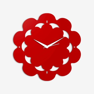 Abstract Style 3 Red Wall Clock