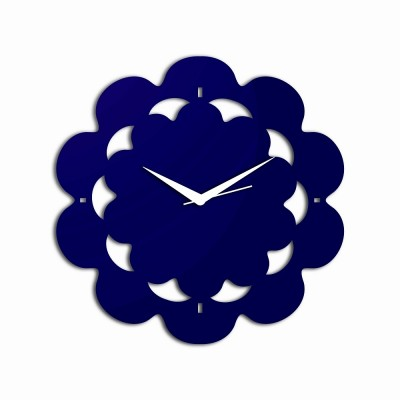Abstract Style 3 Blue Wall Clock