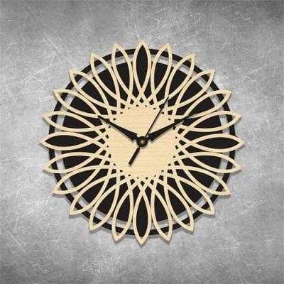 Artistic Self Cut Birchwood Wall Clock