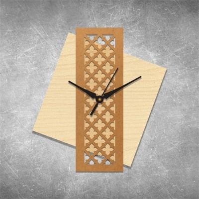 Panel Clock Birchwood Wall Clock