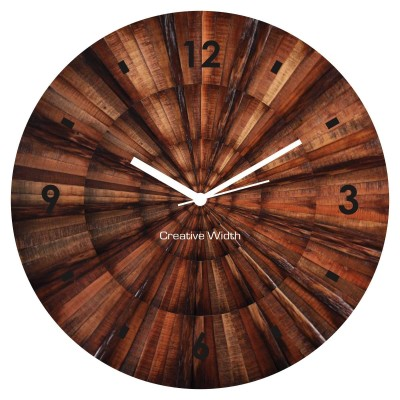 Wood Print Wall Clock