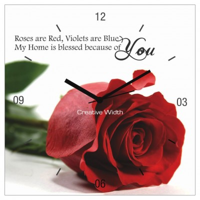 Blessed Rose Wall Clock