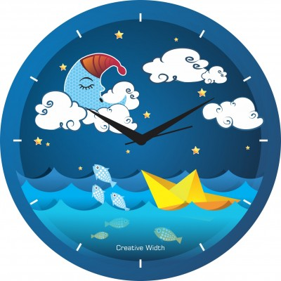 A Night With Clouds Wall Clock