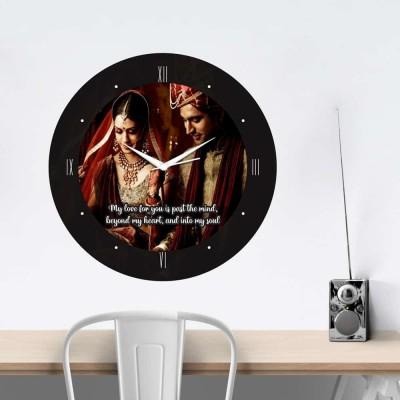 Personalized Circular Shape Love You Wall Clock-Medium