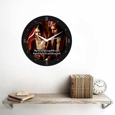 Personalized Circular Shape Love You Wall Clock-Small