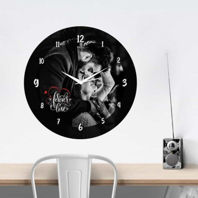 Personalized Circular Shape Forever Love Wall Clock-Medium