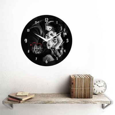 Personalized Circular Shape Forever Love Wall Clock-Small