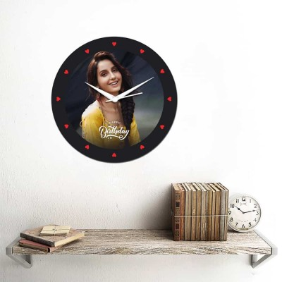 Personalized Circular Shape Birthday Wishes Wall Clock-Small