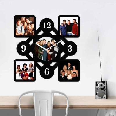 Personalized/Customized 5 Pic Wall Clock Style-Medium