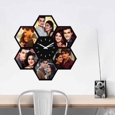 Personalized/Customized 6 Pics Wall Clock Style 1-Medium
