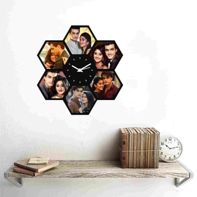 Personalized/Customized 6 Pics Wall Clock Style 1-Small