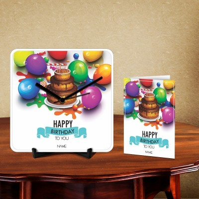 Happy Birthday To You Desk Clock-With Card